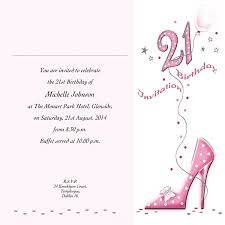 Invitations Card For Birthday Occasion Card 21 4w 21st Birthday Wedding Invitations