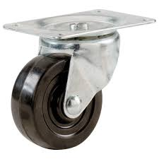 Everbilt 3 in. Soft Rubber Swivel Plate Caster with 175 lb. Load Rating