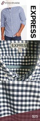 Express Gingham Button Down Shirt Express Gingham Shirt Sz