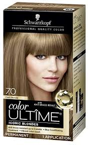 Schwarzkopf Hair Dye Colour Chart Schwarzkopf Color Ultime Hair Color Cream 7 0 Dark Blonde Packaging May Vary