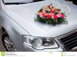 Wedding Car Decorate Wedding Car Decoration With Flowers Stock Photos Image 27956643
