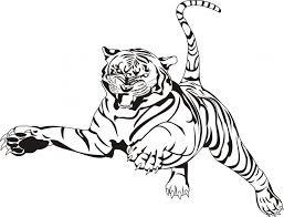 Small Picture Realistic Tiger Coloring Pages Coloring Home