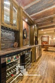 corrugated metal ceiling in basement vinyl basement traditional with basement beams cabinets corrugated metal cozy eclectic