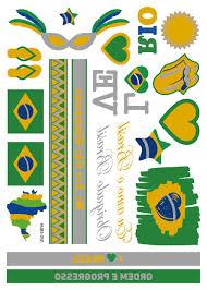 металлический золотой серебряный флэш флаг тату с бразилией франция