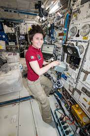 File:ISS-43 Samantha Cristoforetti with the TripleLux-A experiment.jpg -  Wikimedia Commons