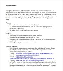 Memo Example Business Sample Business Memo 9 Documents In Pdf Word Google Docs