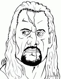 Wwe Kane Coloring Pages Coloring Home
