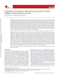 pdf cotion rate declines with mating group size in dusky dolphins lagenorhynchus obscurus
