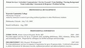 Phlebotomist Resume Free Resume Templates Entry Level Phlebotomist