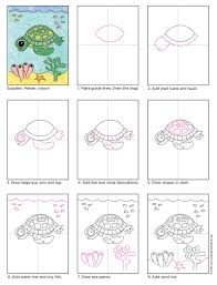 Small Picture How to Draw a Sea Turtle Art Projects for Kids