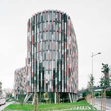 office building facade. Main Point Karlin Office Building Czech Republic | Facade Design Rieder E