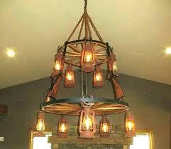 wagonwheel chandeliers post
