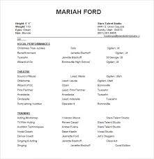 acting resume template 19 download in pdf word psd beginner acting resume sample