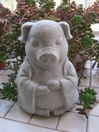 pig statue tating buddha pigs zen animals pig figures concrete pig pig decor cement pig garden statues of pigs garden decor zen