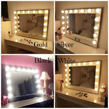 D Hollywood Lighted Vanity Mirrorlarge Makeup Mirror With LightsWall  Hangingfree StandingPerfect For IKEA