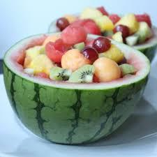 watermelon fruit salad bowl.  Watermelon Watermelon Fruit Salad On Bowl E