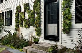 outdoor house facade vertical garden