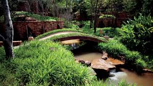 Lawn & Garden:Small Japanese Bridge With Plant Decoration Relaxing Japanese  Garden Bridge Design Ideas