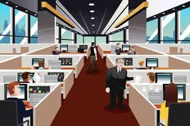 office cubicle clipart. Simple Clipart A Illustration Of People Working In The Office And Office Cubicle Clipart O