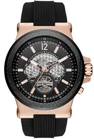 men s michael kors rose gold automatic watch mk9019
