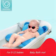 newborn bath floating pad mat baby bath tub pad chair shelf bathtub seat infant