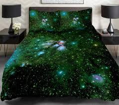 comforter sets galaxy bedding set dark green dark green comforter set 3 piece stars white