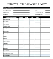 Appraisals Company Appraisal Form Sample Performance General Invoice