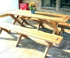 wood picnic table plans wooden round picnic table picnic table plans detached benches free picnic table