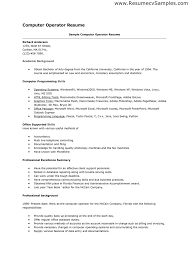 Computer Skills On Resume Examples