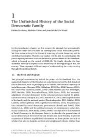 the unfinished history of the social democratic family springer  the palgrave handbook of social democracy in the european union