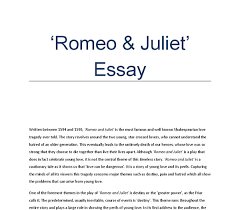 The theme of hatred in  Romeo and Juliet     GCSE English   Marked     Kibin An essay on criticism pope sparknotes romeo and juliet