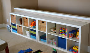 Furniture Playroom For Kids With Ikea Toy Storage Wall And