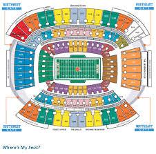 Cleveland Brown Stadium Seating Chart Cleveland Browns Stadium Seating Chart Wheres My Seat