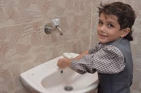 preschool bathroom sink. Boy At A Sink His Gaza Preschool Anera Renovated. Bathroom R