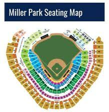 Seat Number Brewers Seating Chart Milwaukee Brewers Wi Baseball Tickets For Sale Ebay