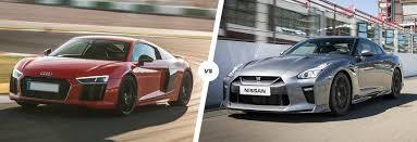 Audi R8 vs Nissan GT-R supercar comparison | carwow