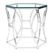 chrome glass end tables designs futuristic looked in complicated design framing pace collection glossy table i8