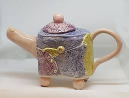 All Buttoned Up Teapot by Jan Knight