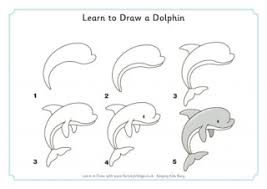 Small Picture Drawing Of Sea Animals How To Draw A Simple Dolphin Step 5 1
