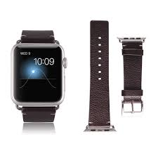 ec technology genuine leather apple watch bands for apple watch 38mm black
