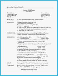 Accounting Intern Resume Examples Examples Accounting Student Resume