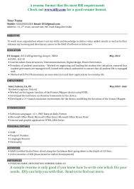 software developer resume template resume format