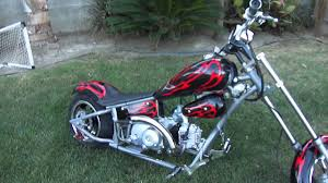 mini chopper 110cc running youtube