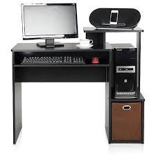 home office computer desk. Furinno 12095BK/BR Econ Multipurpose Home Office Computer Writing Desk With Bin T
