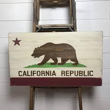 small california republic wall art