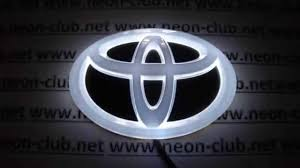 Tuning auto accessories car decal 4D toyota emblem, led lights ...