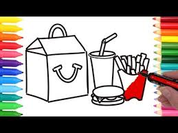 Small Picture How to Draw Happy Meal Coloring Pages Kids Learn Drawing Art