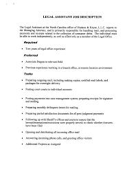 Legal Assistant Job Description Legal Assistant Resume Resume Badak 1