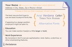 Good Font Modern Resume How To Choose The Right Font And Size For Cover Letters