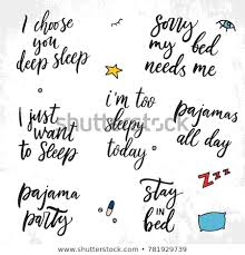 Sleep Quotes Adorable Set Vector Sleep Quotes Vector Illustration Stock Vector Royalty